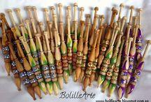 Bolillos. Modelo Shide / Bolillos decorados artesanalmente