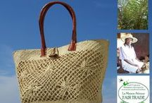 Fair Trade bags / Handcrafted bags of environmentally sustainable materials.