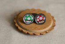 Geekery Earrings / Geek Things, Videogame Earrings