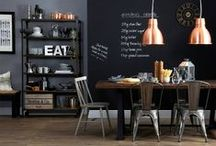 Extraordinary Black Walls / Are you courageous enough to try the deep impact of black walls in your home? The effect that black walls can create is unequalled and it takes courage and commitment to create a stunning interior design adorned with black walls.