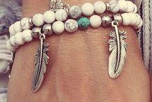 My jewelry, boho-style