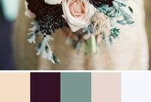 """Color Combos / Whether you're moving into your new home, ready to revamp your current home or want to spruce it up to sell, you may be asking the question, """"What goes with what?"""" Don't feel overwhelmed in the paint section at the hardware store! Here's some awesome color schemes whether you are painting or looking for colored furniture and fabrics that work!"""
