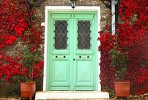"""aDOORable / Knock, Knock. Who is there? Some adorable doors to inspire you! You know what they say, """"When one door closes, another opens."""""""