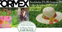 Formex 2017 - Stockholm international fairs / #Formex is the largest Scandinavian trade fair for design, #crafts and interior. Twice yearly: January and August. Welcome to La Maison Afrique #FAIRTRADE stand.