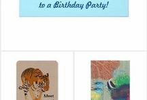 Birthday Supplies and Ideas / Check out a variety of birthday party invitations, party ideas, and supplies. You can find birthday designs on postage stamps, invitations, and stickers in my store, CherylsArt on Zazzle. http://www.zazzle.com/CherylsArt*/birthday