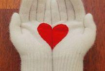 Stulpen/ Handschuhe/ Fäustlinge / für die warmen Hände