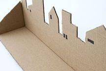 Maisons en papier ou carton