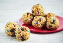 Kraft PB Snack Bites / Our Peanut Butter Snack Bites are as quick and easy to make, as they are to share with the ones who matter most. Take a look at all of our fun Snack Bite recipes and don't forget to pin your faves!