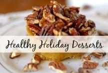 Healthy Holiday Desserts / Delicious and healthy holiday desserts that range from your favorite seasonal flavors like gingerbread, pumpkin, egg nog, cranberries, you name it! Please pin a max of 3 pins per day, thanks :)