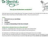 Vacatures / Openstaande Vacatures bij de Sfeerstal in NIeuwveen