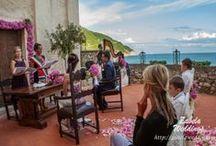 Emil+Amalia's Wedding on the cliff top. / Liguria, Santa Lucia chapel. Symblic Wedding on the seaside.