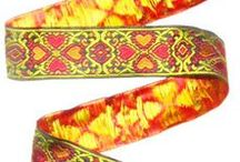 """New additions September & October 2014 / Here are some great new Jacquard Ribbons in 1 3/8"""" width and also available in 1"""""""