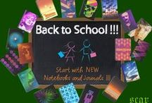 BACK TO SCHOOL / Cool Notebooks and Hardcover Journals for all kinds of use from student to artists. created by Scar Design #notebooks #schoolsupplies #journals #school #student #college #artist #writer #artistsupplies #campus #backtoschool #freshman