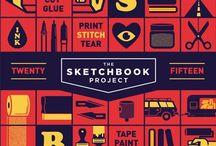 Sketchbook / Sketchbook experiments and materials