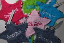 Labeldoekjes borduren / Labeldoekjes, speen doekjes, grappige labeldoekjes, ster labeldoekjes, met naam geborduurd. Ervaar de waarde van borduren.
