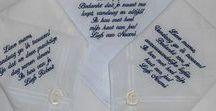Zakdoeken machinaal borduren / Bruiloftzakdoekje.nl Zakdoekjes van kant voor dames en heren. Huwelijk, geboorte, verhuizing, valentijn, verjaardag, voor opa of oma, of gewoon zomaar. Bruiloft zakdoekjes voor vader, moeder, tante, oom, getuigen, vriend of vriendin of gewoon voor jezelf. Alles naar wens te maken en te bestellen in onze webshop..  http://www.bruiloftzakdoekje.nl