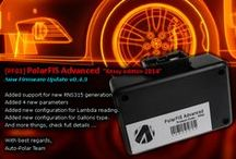 """Auto-Polar / PolarFIS+ Adv and PolarBT: Thess devices allows you to visualize important engine parameters """"hidden"""" in your car. You only need to connect the device easily inside your vehicle and you will start to monitorize all you desire in real time."""