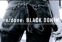 re/done: BLACK DENIM