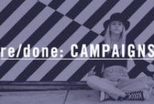 re/done: CAMPAIGNS / Our stories, our jeans. Told through the stories of our RE/DONE campaigns and projects.