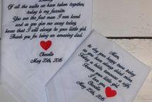 Bruiloftzakdoekje 2016 / Zakdoekjes voor bruiloft in 2016. Dames en heren zakdoeken, wedding, voor ouders, vriend (in) http://www.bruiloftzakdoekje.nl