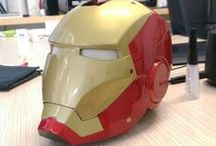 3D printed Iron Man helmet / We've 3D modeled and 3D printed Iron Man helmet. This is the result after post-production and airbrushing. Do you like it?  MORE INFO HERE --> http://goo.gl/euRiAI  #stampa3D #3Dprinting #MonzaMakers