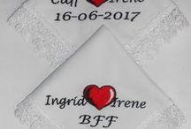 Bruiloftzakdoekje 2017 / Bruiloft zakdoekjes voor 2017 bruiloften , wedding, zakdoekjes, geborduurd