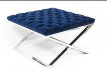Furniture: Bench / Stool / Ottoman / Images of benches & stools: something to add edge / by John Hoskins