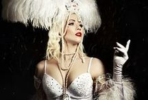 Stephanie van der Strumpf Snowflake / Burlesque performer, Snowflake act on tiptoes, tight lacing corset, photos by Lucie Kout