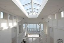 Light and Airy / Light and airy living room, bedroom, decor, kitchen within timber frame homes by Carpenter Oak Ltd