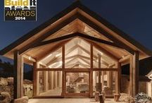 Winner! Build It Awards 2014 / West Yard Farm wins 'Best Oak Frame' at Build It Awards 2014. Overall design by architects van Ellen + Sheryn, finished by builder Richard Goulden, glazed with our partners Window Glass.