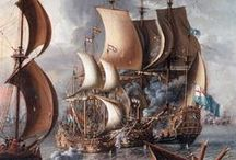 Héraldique Navale / A Sea Fight with Barbary Corsairs, c. 1681
