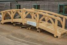 Oak Outbuildings and Accessories for Gardens and Landscaping / Timber framed bridges, oak garden rooms, timber frame garden and landscaping accessories. Oak structures designed