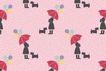 Lewis & Irene - April Showers - Patchwork & Quilting Fabric / 100% Cotton - Designer Patchwork Fabric