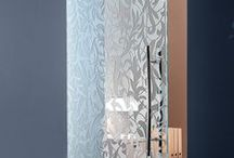 Glass Doors / Casali sliding interior glass doors are designed with playful patterns to define spaces, without dividing them. Sliding, ceiling-fixed glass doors are available flat or curved, with a single or double panel.