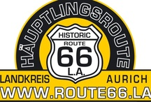 Route 66 in L. A. (Landkreis Aurich / Eine einzigartige geführte Kult(o)ur auf den Spuren spannender ostfriesischer Häuptlings- und Piratengeschichte - für Oldtimer, Cabrios, Motorrad und andere Automobile.