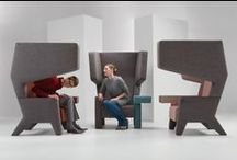 PROOFF #001 EarChair / Shelter from the clamor. Public turns private.  A fascinating space within a space. An informal meeting place. One on one or with a team. Reducing background noice and creating space for focus or meetings. Find more information @ www.prooff.com
