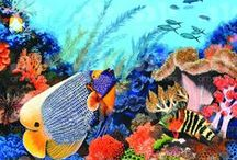 Arts Oceans For Sale / Here is Pascal's artwork. Scuba art and ocean inspired paintings available on Etsy and Redbubble