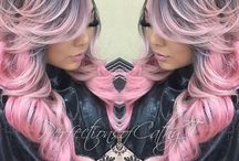 Pink Hair Nails Makeup / Get your girly-girl fix with our collection of pink hair, makeup and nail confections. Most beautiful collection on Pinterest. #HotOnBeauty