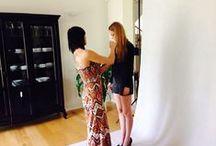 Backstage sesji fotograficznej - kolekcja Glamour Lato 2014 / Kulisy sesji fotograficznej letniej kolekcji odzieży marki Tamaniera - Glamour Lato 2014, która odbyła się w piątek 23. maja. fot.: Magda Turkiel wizaż: Julia Ozdoba modelka: Weronika Dworak