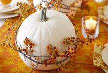 Fall holiday & entertaining decor / Ahhh..that special times of year when friend and family gather to laugh, eat, talk, and just enjoy. Here are some of the ideas that we have collected that will hopefully help you get into the holiday spirit!