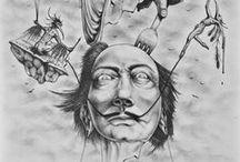 Surreal drawings / https://www.etsy.com/shop/KaToNaRt?ref=hdr_shop_menu