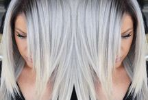 Silver Gray Charcoal Granny Hair Color / Metallic, silver, gray and granny hair color designs that are on fleek for today's fashionistas.