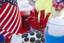 Red, white & blue  / July 4th, Memorial and Labor Day entertaining. All things red, white and blue and USA