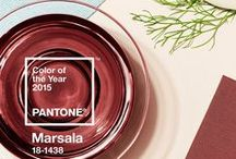 Color of the Year 2015: Marsala / A naturally robust and earthy wine red, Marsala enriches our minds, bodies and souls.  - Pantone, Marsala Color of the Year 2015