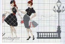 point Croix Mode / Point croix Fashion