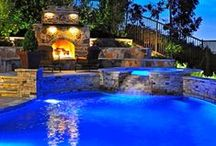 Pool Lighting / Use LED Lighting to brighten up your backyard pool.