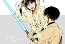 AOT cross STAR WARS / This is my favvveee AOT cross over! <3
