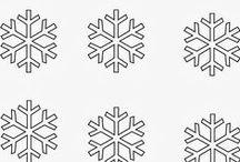 śnieżynki i bałwanki