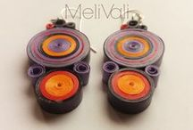 M E L i V A L i | Quilling Jewelry / Elegant paper jewelry using Quilling technique and manipulate strips of colorful paper by rolling, looping and curling them into decorative shapes.