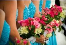 Bridesmaids & flower girls  / Everything bridesmaids; dresses, gifts, hair, makeup, flowers